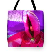 Three Petals Left To Open Tote Bag by Kym Backland