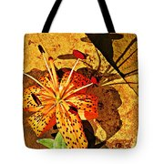 Tiger Lily Still Life  Tote Bag by Chris Berry