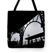 Tiger Stadium Silhouette Tote Bag by Michelle Calkins