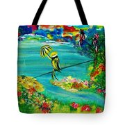 Tight Rope Tote Bag by Kelly Turner