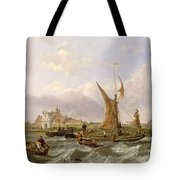 Tilbury Fort - Wind Against the Tide Tote Bag by William Clarkson Stanfield