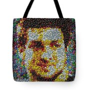 Tim Tebow Mms Mosaic Tote Bag by Paul Van Scott