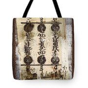 Torn Papers On Wall Number 2 Tote Bag by Carol Leigh
