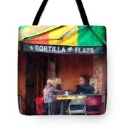 Tortilla Flats Greenwich Village Tote Bag by Susan Savad