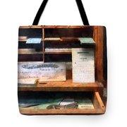 Train Ticket Office Tote Bag by Susan Savad
