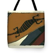 Traveling Goanna Tote Bag by Pat Saunders-White