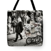Traveling Vendor Tote Bag by Joan Carroll