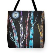 Trees And Moon Tote Bag by Karla Gerard