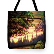 Trees Stained Glass Window Tote Bag by Thomas Woolworth