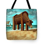 Trojan Cow Tote Bag by Russell Kightley