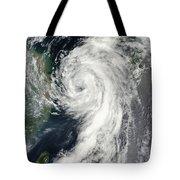 Tropical Storm Dianmu Tote Bag by Stocktrek Images