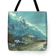 Tsunami Tote Bag by Chris Butler and Photo Researchers