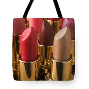 Tubes Of Lipstick Tote Bag by Garry Gay