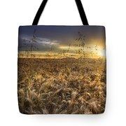 Tumble Wheat Tote Bag by Debra and Dave Vanderlaan