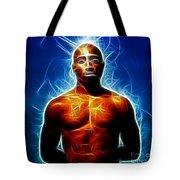 Tupac Shakur Tote Bag by Paul Ward