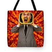 Tv Man Tote Bag by Garry Gay