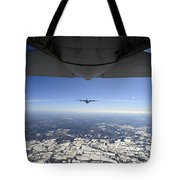 Two Ec-130j Commando Solo Aircraft Fly Tote Bag by Stocktrek Images