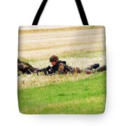 Two Soldiers Of The Belgian Army Tote Bag by Luc De Jaeger