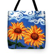 Two Sunflowers Tote Bag by Genevieve Esson