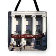 UC Berkeley . Sproul Hall . Sproul Plaza . Occupy UC Berkeley . 7D9991 Tote Bag by Wingsdomain Art and Photography