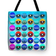 Uncle Sams Buttons Tote Bag by Charles Stuart