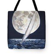 Under Full Sail..under Full Moon Tote Bag by Jack Skinner