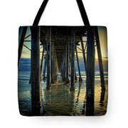 Under The Boardwalk Tote Bag by Chris Lord