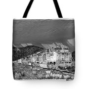 Union Pacific Diesels and Monsoon Tote Bag by Jack Pumphrey