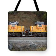 Union Pacific Locomotive Trains . 7D10573 Tote Bag by Wingsdomain Art and Photography