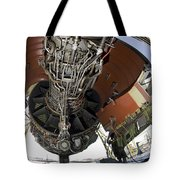 U.s. Air Force Technician Hydraulically Tote Bag by Stocktrek Images