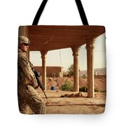 U.s. Army Soldier Pulls Security Tote Bag by Stocktrek Images
