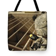 U.s. Army Soldier Takes A Gps Grid Tote Bag by Stocktrek Images
