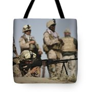 U.s. Marine Prepares To Fire A Pk Tote Bag by Terry Moore