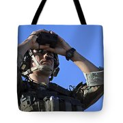 U.s. Special Operations Soldier Looks Tote Bag by Stocktrek Images