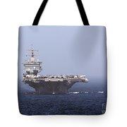 Uss Enterprise In The Arabian Sea Tote Bag by Gert Kromhout