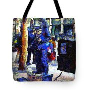 Van Gogh Is Captivated By A San Francisco Street Performer . 7d7246 Tote Bag by Wingsdomain Art and Photography