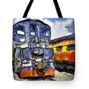 Van Gogh.s Locomotive . 7d11588 Tote Bag by Wingsdomain Art and Photography