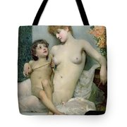 Venus And Cupid Tote Bag by Solomon Joseph Solomon
