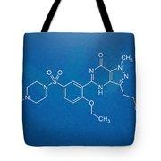 Viagra Molecular Structure Blueprint Tote Bag by Nikki Marie Smith
