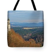 View From Koenigstein Fortress Germany Tote Bag by Christine Till