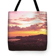 View Of Cabo San Lucas And Tip Of Baja Tote Bag by Stuart Westmorland