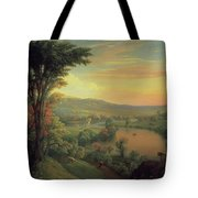 View Of The Mohawk Near Little Falls Tote Bag by Mannevillette Elihu Dearing Brown