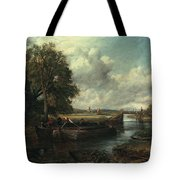 View Of The Stour Near Dedham Tote Bag by John Constable