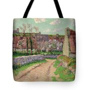 Village In Clohars Tote Bag by Henry Moret