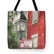 Village Lamplight Tote Bag by Debbie DeWitt