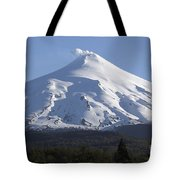 Villarrica, Steaming Crater, Araucania Tote Bag by Martin Rietze