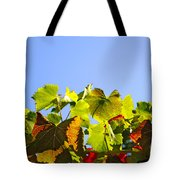 Vineyard Leaves Tote Bag by Carlos Caetano