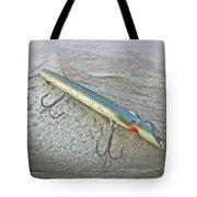 Vintage Fishing Lure - Floyd Roman Nike Lil Sandee Tote Bag by Mother Nature