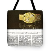 Vintage Omega Watch Tote Bag by Nomad Art And  Design