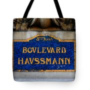 Vintage Paris Street Sign Tote Bag by Andrew Fare